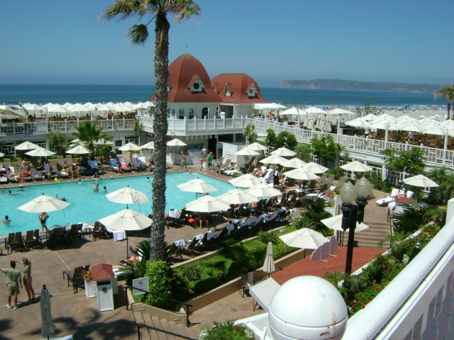 View from above- Hotel Del Coronado