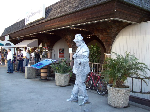 Silver Man - near Seaport Village - San Diego