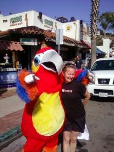 Jody & parrot