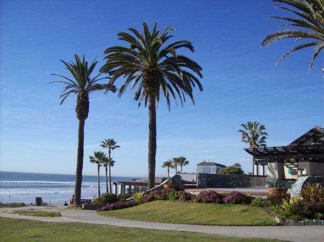View of the beach near Del Mar, CA